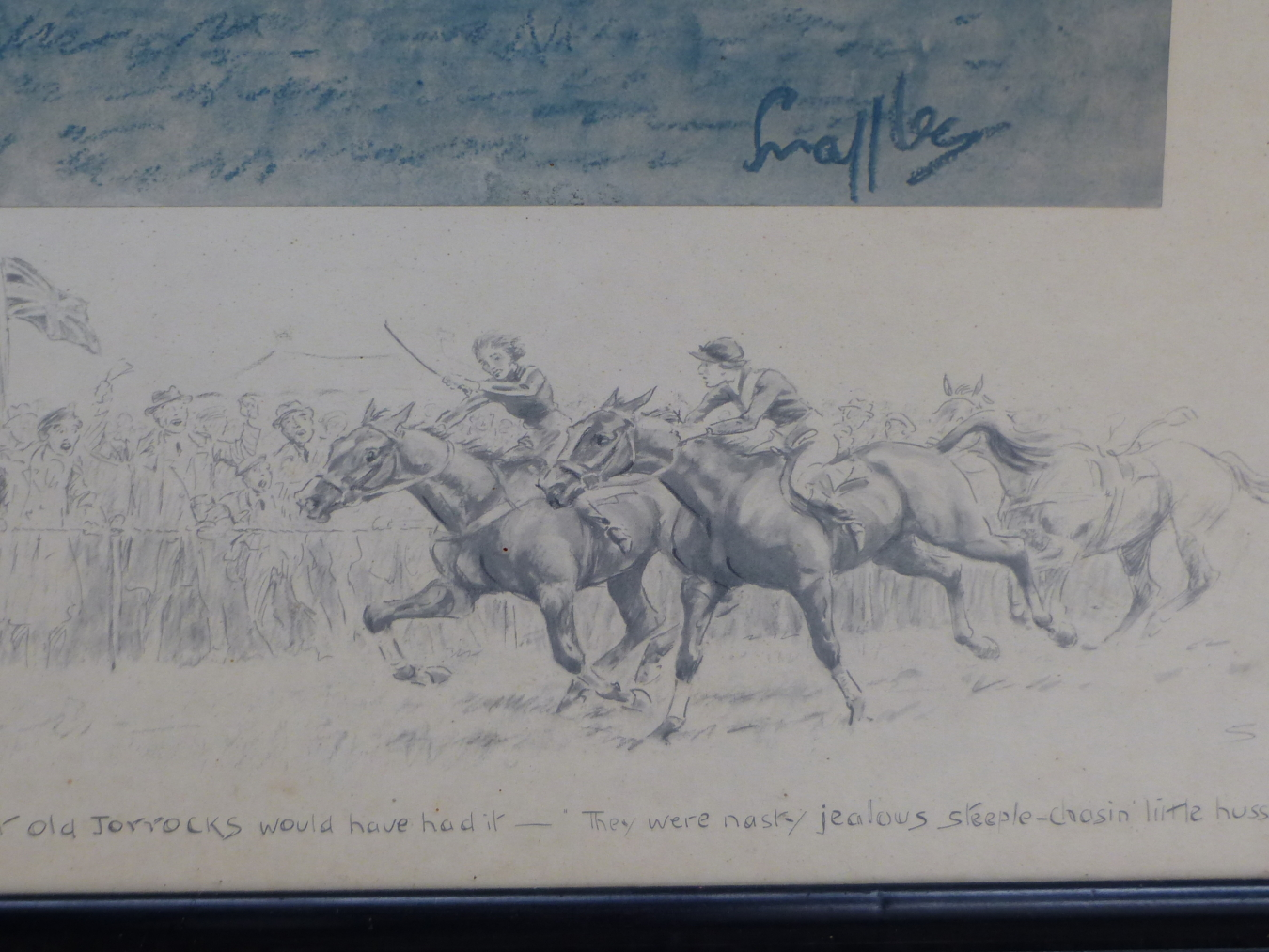 SNAFFLES, CHARLES JOHNSON PAYNE (1884-1967) A SIGHT TO TAKE HOME AND DREAM ABOUT. PENCIL SIGNED - Image 4 of 4