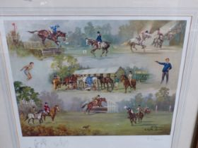 AFTER JOHN KING, THE PONY CLUB. SIGNED ARTISTS PROOF COLOUR PRINT. 48 x 53.5cms