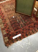 TWO ANTIQUE AFGHAN ENGSI RUGS, 160 x 126cms AND 183 x 130cms (2)