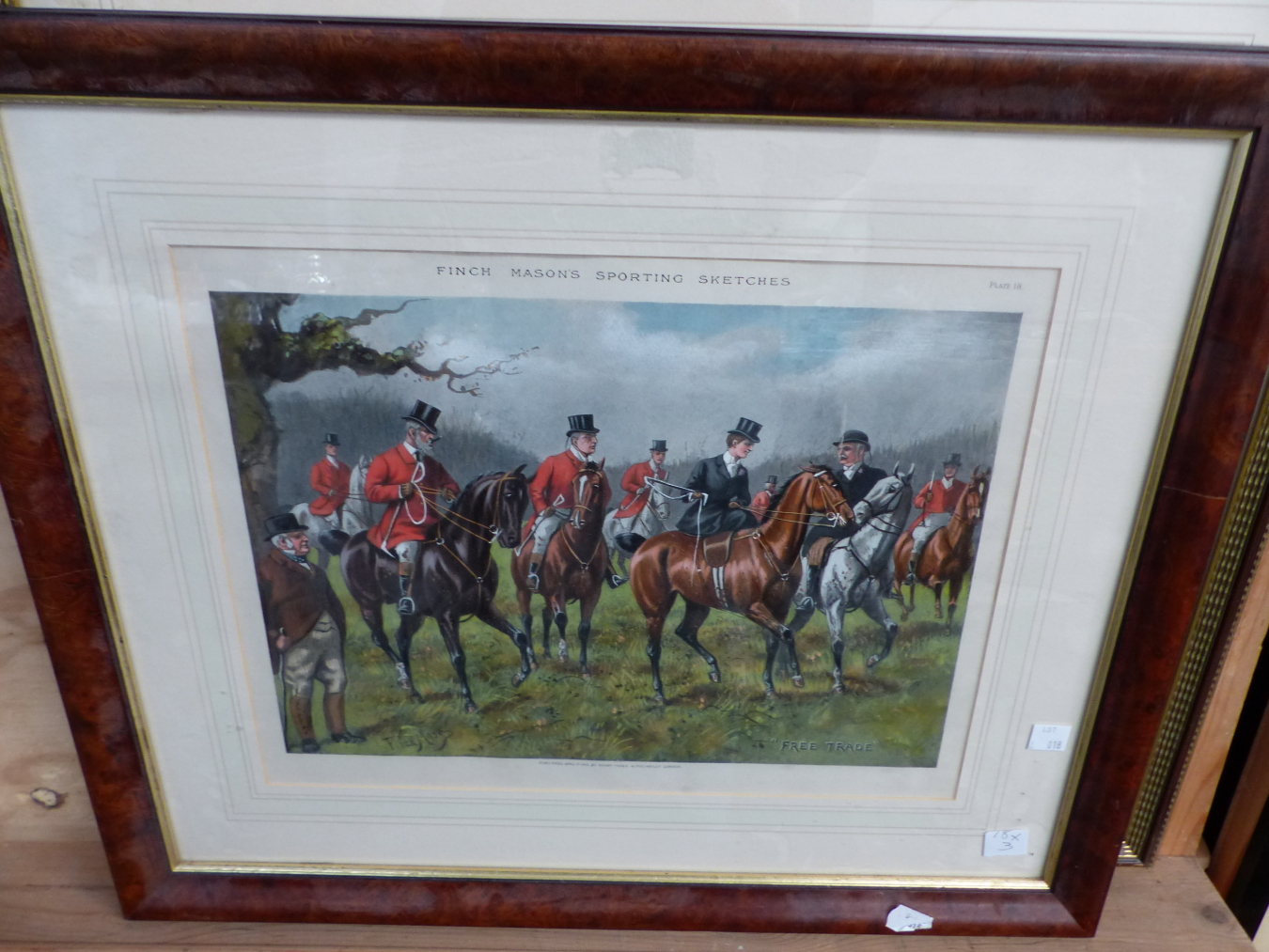 AFTER J.F. HERRING. A HAND COLOURED PRINT OF THE RACE HORSE ST. PATRICK. 37 x 44cms TOGETHER WITH - Image 4 of 4