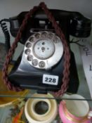 A VINTAGE CALL EXCHANGE TELEPHONE, TOGETHER WITH TWO VINTAGE KODAK CAMERAS AND A PAIR OF BINOCULARS