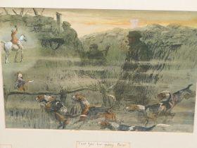 "SNAFFLES, CHARLES JOHNSON PAYNE (1884-1967) A PENCIL SIGNED COLOUR PRINT ""THAT FAR FAR AWAY ECHO""-"