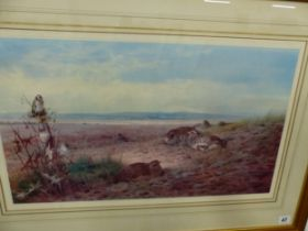 A LIMITED EDITION COLOUR PRINT, AFTER ARCHIBALD THORBURN, GALLERY LABEL VERSO 36 x 60cms