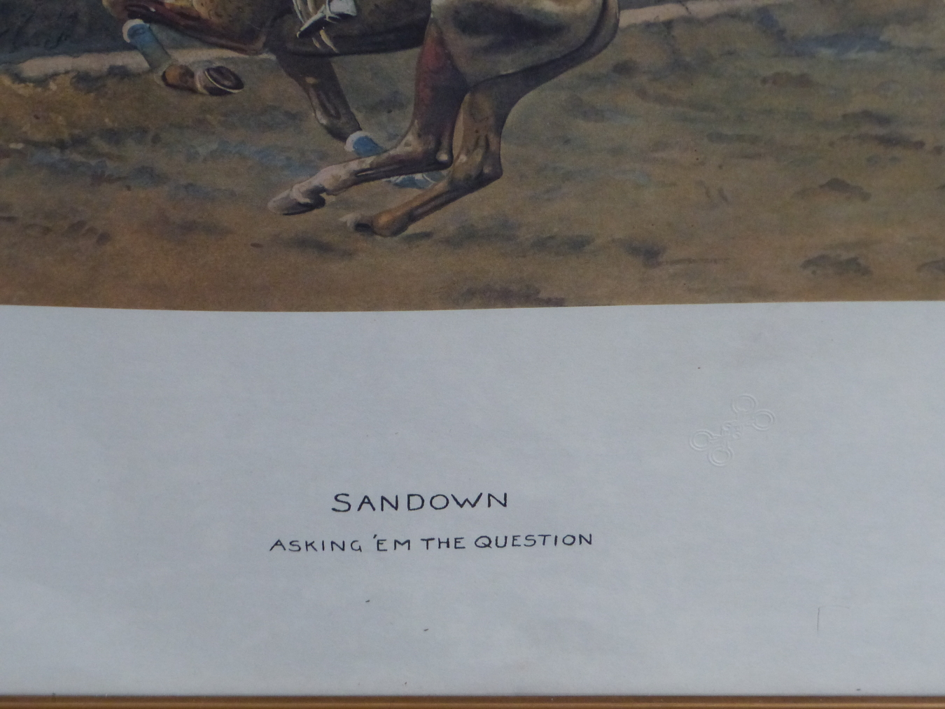 AFTER SNAFFLES, CHARLES JOHNSON PAYNE (1884-1967) SANDOWN.. COLOUR PRINT. 48 x 63.5cms - Image 4 of 6