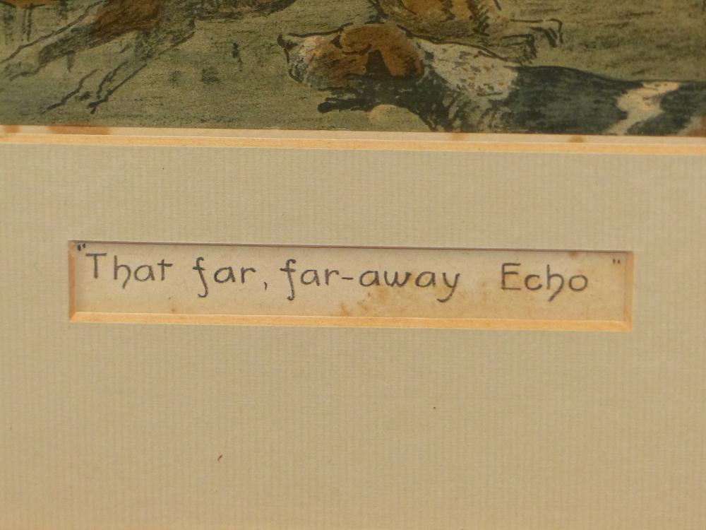 "SNAFFLES, CHARLES JOHNSON PAYNE (1884-1967) A PENCIL SIGNED COLOUR PRINT ""THAT FAR FAR AWAY ECHO""- - Image 5 of 10"