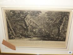 AFTER J.E RIDINGER, THREE ANTIQUE PRINTS OF HUNTING SUBJECTS 30 x 49 cm (3)