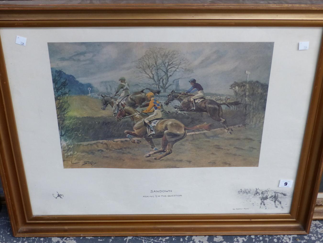 AFTER SNAFFLES, CHARLES JOHNSON PAYNE (1884-1967) SANDOWN.. COLOUR PRINT. 48 x 63.5cms - Image 6 of 6