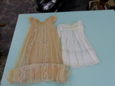 A LARGE ITALIAN COCKEREL, CHRISTENING GOWNS ETC.