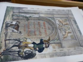 AFTER JOSEPH NASH. A LARGE COLLECTION OF ANTIQUE HAND COLOURED PRINTS FROM THE MANSIONS OF ENGLAND