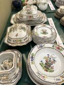 A COPELAND SPODE OLD BOW PART DINNER SERVICE.