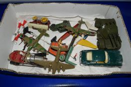 BOX CONTAINING MILITARY TOYS AND AIRCRAFT