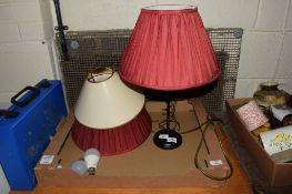 BOX CONTAINING TABLE LAMP AND SHADES