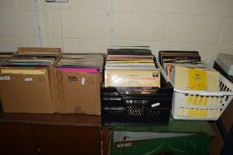 GROUP OF FOUR BOXES OF LPS, MAINLY CLASSICAL INCLUDING BEETHOVEN, VERDI, ELGAR, SIBELIUS ETC