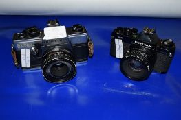 TWO CAMERAS, ONE PRAKTICA, THE OTHER PENTAX