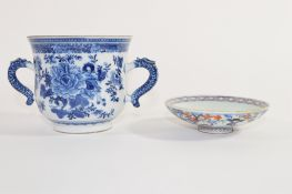 Late 18th/early 19th century Chinese porcelain blue and white jar and associated cover, the jar with