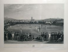 """After William Drummond and Charles J Basebe, engraved by G H Phillips, """"The Cricket Match -"""