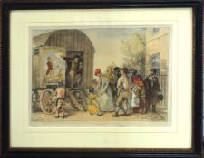 """After J A Atkinson, """"The Show"""", """"Punch"""" and """"Guy Fawkes"""", group of three hand coloured soft ground"""