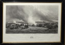 """After G Jones, engraved by J T Willmore, """"The Battle of Waterloo"""", black and white engraving,"""