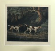"""After T N Sartorious, engraved by W Ward, """"Pointers"""", coloured mezzotint, published by James"""