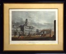 "After James Malton, ""Lying-in hospital, Dublin"" and ""Trinity College, Dublin"", pair of hand coloured"