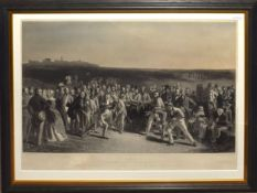 """After Charles Lees, engraved by Charles Wagstaffe, """"The Golfers - a grand match played over St"""