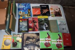 Box: 20 sport related including fishing, boxing etc