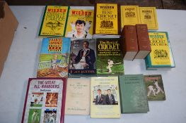 Box: 16 various cricket related including Wisden etc