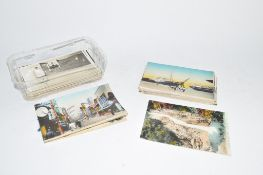 SMALL PLASTIC TRAY CONTAINING QUANTITY OF POSTCARDS