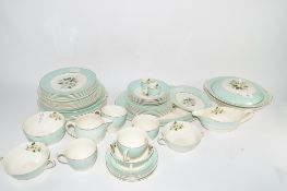 JOHNSON BROS DINNER SERVICE IN PAREEK PATTERN COMPRISING TUREENS AND COVERS, SERVING DISHES, GRAVY