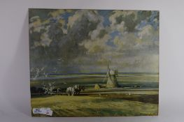 PRINT OF A PLOUGHING SCENE
