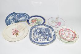 GROUP OF BLUE AND WHITE CHINA WARES AND OTHER POTTERY