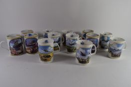 QUANTITY OF BOXED HEROES OF THE SKY CERAMIC MUGS BY DAVENPORT POTTERY COMPANY