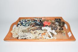 TRAY CONTAINING QUANTITY OF COSTUME JEWELLERY