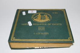 LLOYDS REGISTER OF YACHTS DATED 1939