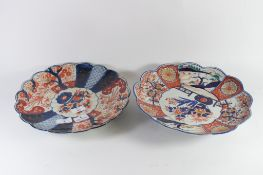 TWO JAPANESE PORCELAIN IMARI DISHES