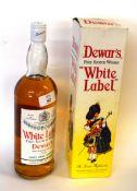 1 bottle Dewars White Label (old) - boxed