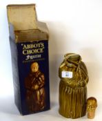 1 bottle Abbot's Choice Finest Old Scotch Whisky 70° proof (in figurine decanter) - boxed