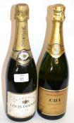 1 bottle NV Louis Dornier Champagne, t/w 1 bottle NV Cava Sparkling (2)