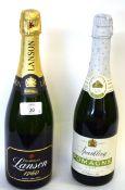 1 bottle NV Lanson Champagne, t/w 1 bottle NV Sparkling Pomagne (2)