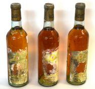 3 half bottles La Flora Blanche, Sauternes
