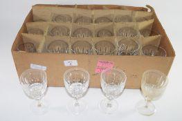 BOX CONTAINING MISCELLANEOUS WINE GLASSES