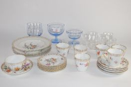 GLASS WARES AND CERAMIC ITEMS IN CONTINENTAL PORCELAIN STYLE