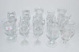 ASSORTED WINE GLASSES ETC