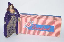 OTTENBERG TUDOR DRESSED DOLL IN A ROSEBUD DOLL BOX
