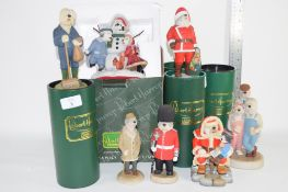 QUANTITY OF FIGURES DESIGNED BY ROBERT HARRUP INCLUDING PARK KEEPER, SANTA CLAUS AND OLD ENGLISH
