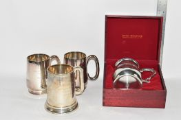 THREE PLATED PRESENTATION CUPS FROM THE DUBLIN ESTATE CLUB