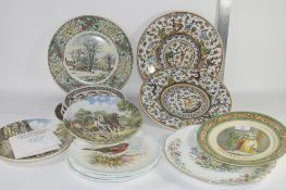 """CERAMIC COLLECTORS PLATES INCLUDING WEDGWOOD """"OFF TO WORK"""" NO 5784 FROM A LIMITED EDITION ETC"""