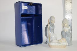 BOXED FIGURES, PROBABLY NATIVITY