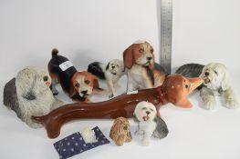 CERAMIC DOGS, SHEEP DOGS, NOVELTY DOGS ETC