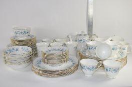 COLCLOUGH DINNER AND TEA WARES COMPRISING PLATES, SIDE PLATES, TEA POT, CUPS, SAUCERS AND MUGS